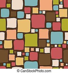 Vintage doodle squares background