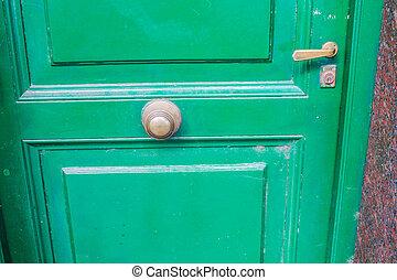 Vintage Door Detail in Green