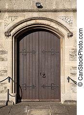 Vintage door of an old church