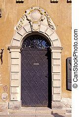 vintage doors in old town Warsaw
