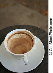 Vintage drinking coffee