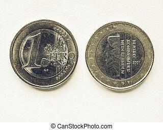 Vintage Dutch 1 Euro coin