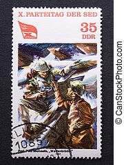 Vintage east german postage stamp