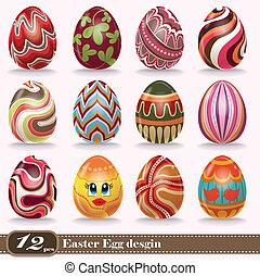 Vintage Easter egg poster design