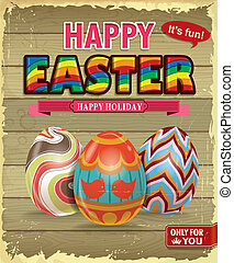 Vintage Easter poster design