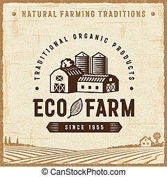 Vintage Eco Farm Label