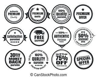 Vintage Ecommerce Badges