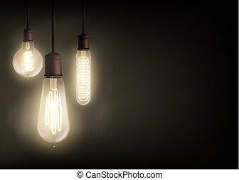 Edison light bulb - Vintage Edison light bulb is glowing in ...