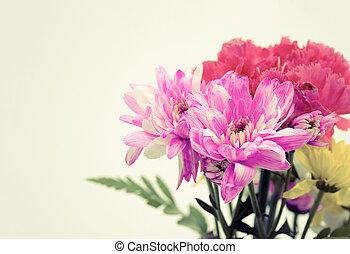 vintage effect style of Colorful flower bouquet arrangement