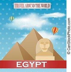 Vintage Egypt Travel vacation poste