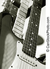 electric guitars - vintage electric guitars close-up