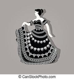 Vintage elegant woman illustration
