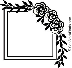 Vintage element flowers, wallpaper decor for greeting card. Vector