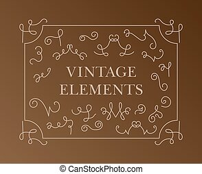 vintage elements. vector set calligraphic design elements and page decoration - lots of useful elements to embellish your layout