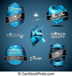 vintage emblem blue
