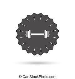 Barbell sign icon. Muscle lifting symbol.