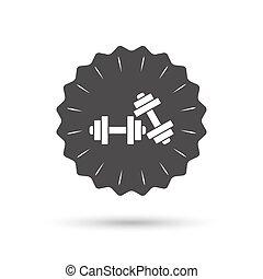 Dumbbells sign icon. Fitness sport symbol.