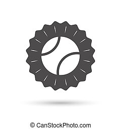 Tennis ball sign icon. Sport symbol.