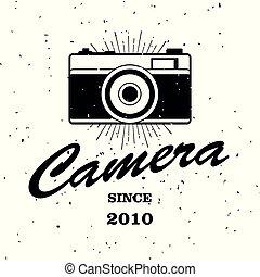 Vintage emblem of retro photo camera