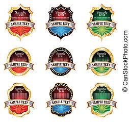 Vintage Emblems Set