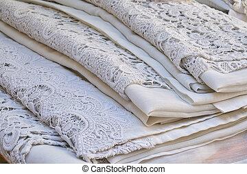 vintage embroidered blanket