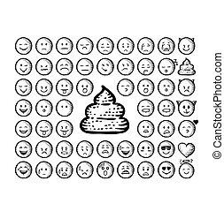 Vintage emoji set