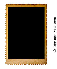 vintage empty photo frame isolated on white