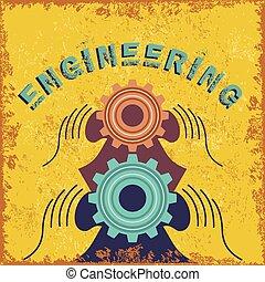 vintage engineering concept