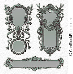Vintage engraved decorative ornate vector frames