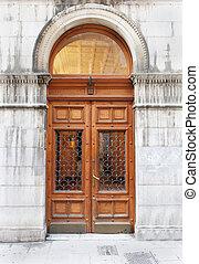 Vintage entrance door