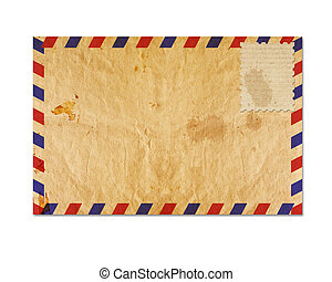 vintage envelop with blank stamp