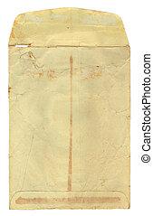 Vintage Envelope Opened - Vintage stained, used, manila...