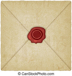 vintage envelope with wax seal
