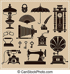 Vintage ephemera and retro objects - Set of design elements...