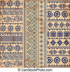 Vintage ethnic set of banners
