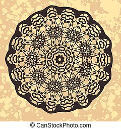 Henna inspired Colourful Mandala - Vintage ethnic vector ...