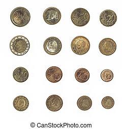 Vintage Euro coin - Belgium - Vintage looking Euro coins...