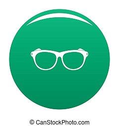 Vintage eyeglasses icon green