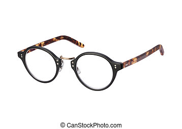 Vintage Eyeglasses isolated with clipping path