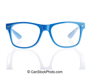 vintage eyeglasses on a white background
