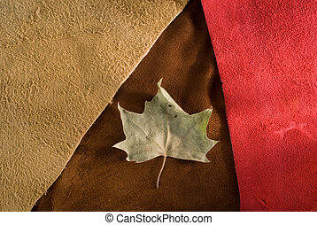 Vintage fall cow leather composition.