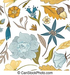 Vintage Fall Floral Pattern