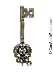 vintage fantasy detailed golden key