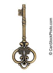 vintage fantasy detailed golden key