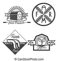 Vintage farm emblems