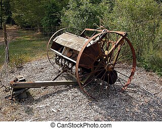 Vintage Farm Equipment - Vintage farm equipment photographed...