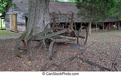 Vintage Farm Equipment - Rusty old farm equipment at farm ...