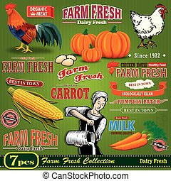 Vintage Farm Fresh poster design el