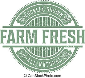 Vintage Farm Fresh Product Label