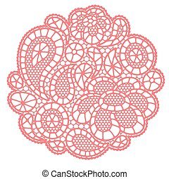 Vintage fashion lace background with abstract flowers.
